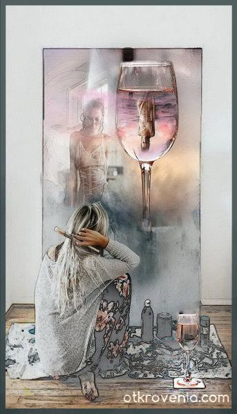 Художничката и картината
