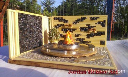 Макет на градински декор в стил хай-тек