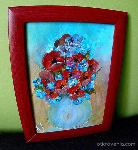 Ваза с полски цветя