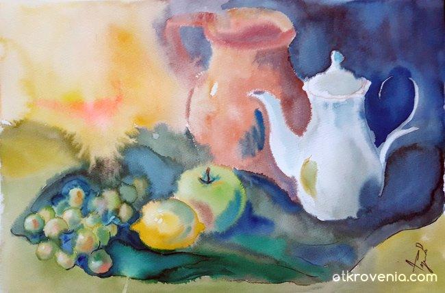Натюрморт с чайник 2