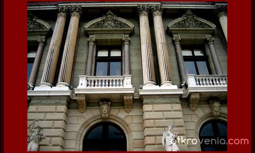 """Фрагмент от фасадата  на """"Art and History  Museum"""", Женева"""