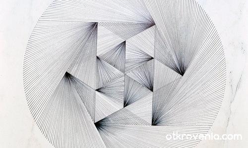 Геометрична рисунка върху плоча