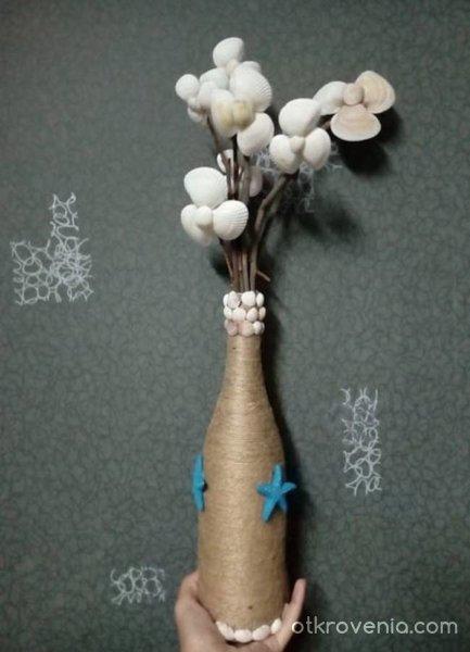 Декоративна ваза на морска тематика