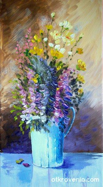 Натюрморт с цветя...