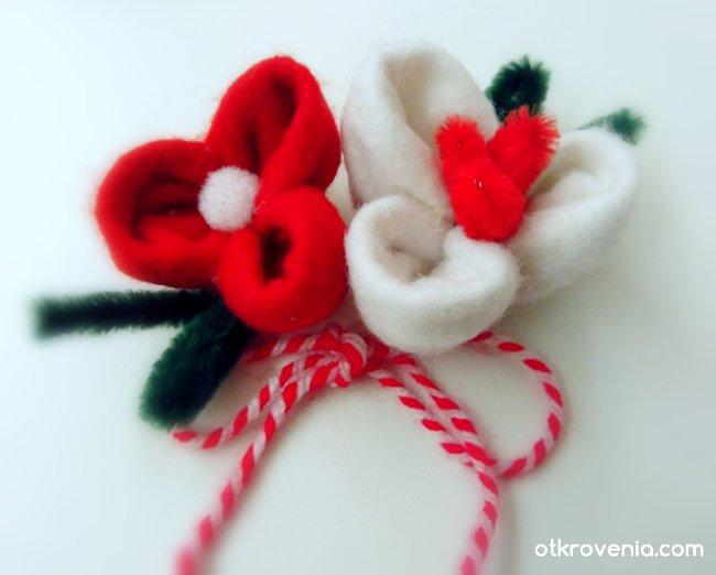 """Мартенички """"Пролетни цветя"""""""