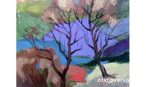 Дърветата прегръщат цветовете