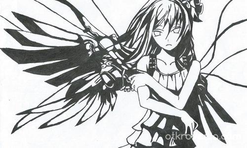 Момиче с крила