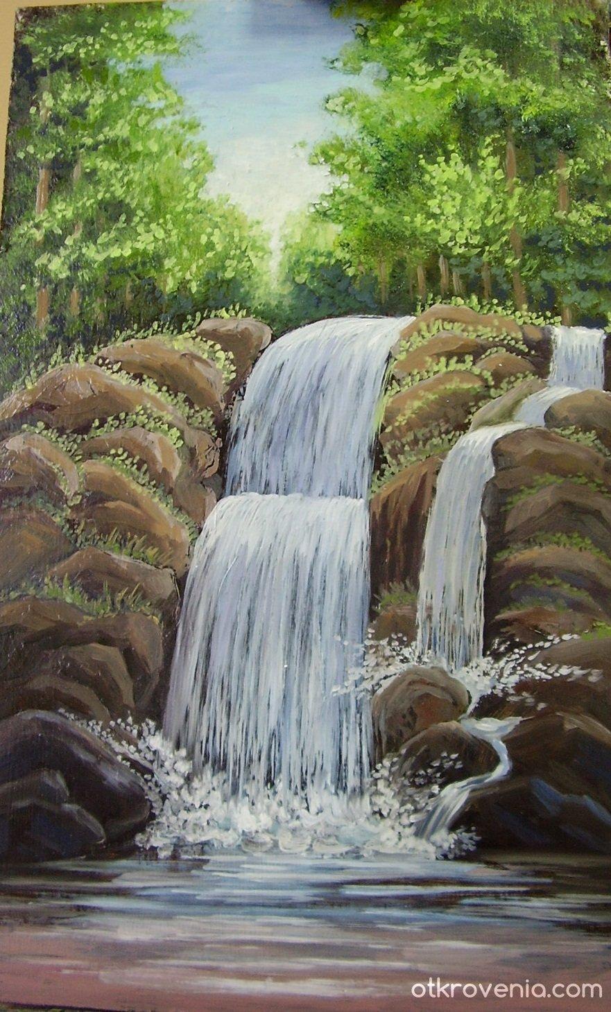 фотосессию студии как нарисовать картинки водопадов с камнями панорамными