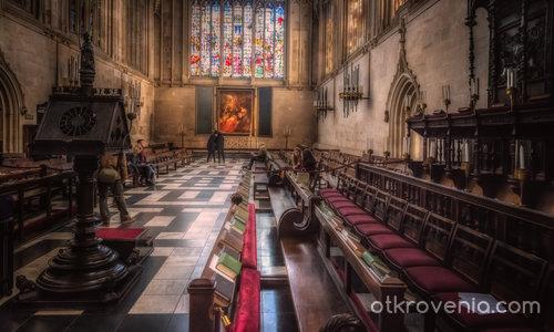 "King's College Chapel and ""Adoration of the Magi"""