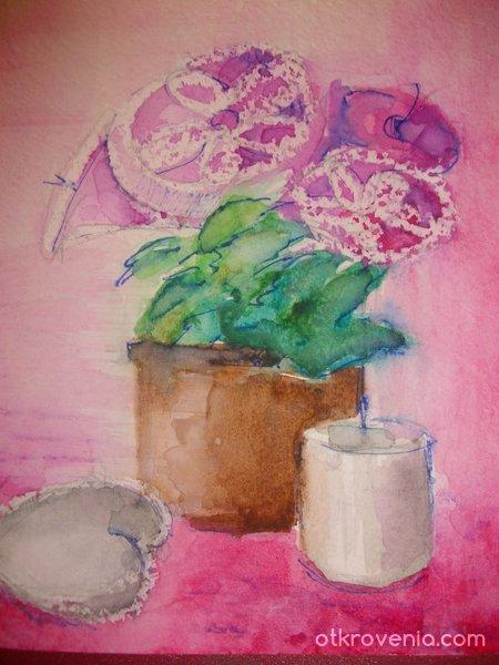 Натюрморт в розово