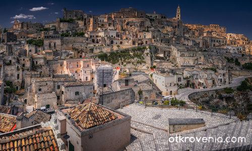 Още една панорама от Matera - цял екран, моля
