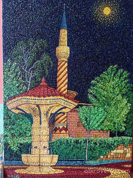 Чадър чешма и джамията в Самоков