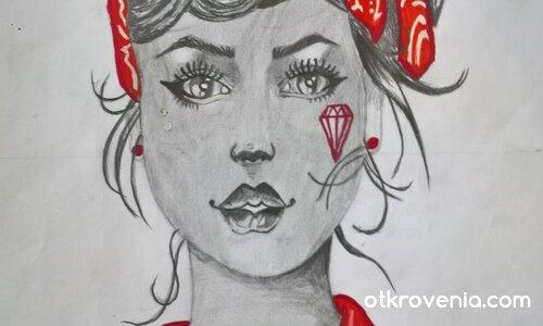 момичето с червената пандела