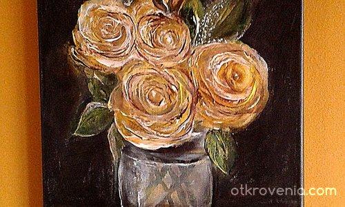 Рози в чаша