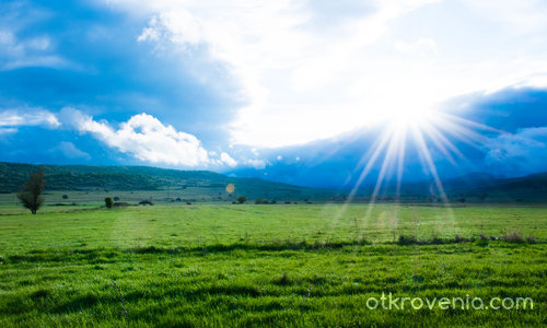 Хълмове зелени ...