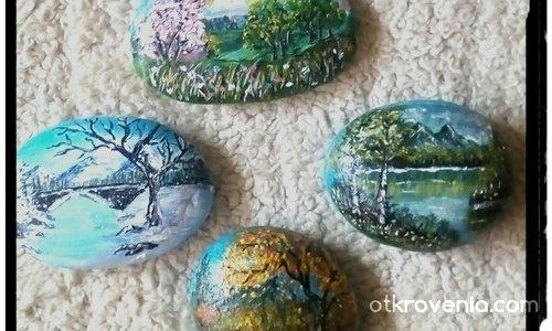 Сезоните на душата /рисувани камъчета/