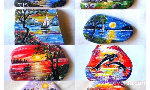 Рисувани камъчета с акрилни бои