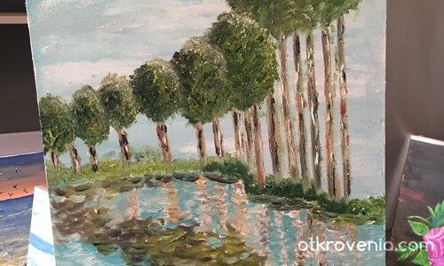 Рисувам по Клод Моне