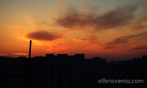 Привечер над града