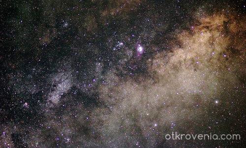 Звездни купове, Млечен път и мъглявини в Стрелец