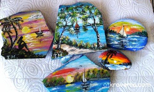 Рисувани камъчета