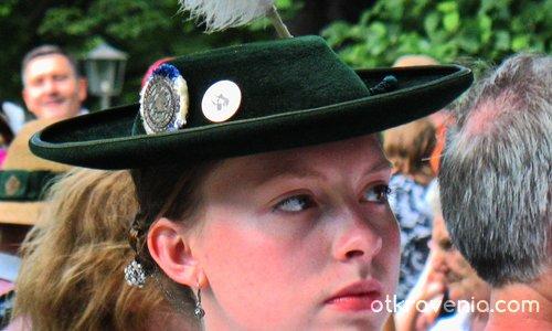 Bayerische mädchen portret