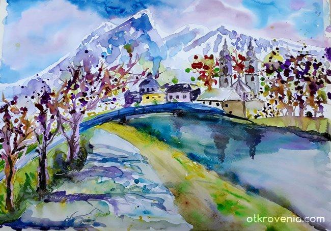 В полите на Алпите
