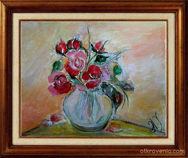 Акварелни Рози