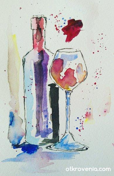 In vino veritas - скица