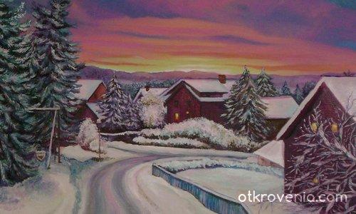 Зимна нощ в Норвегия