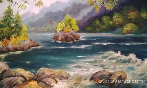 Пейзаж край реката