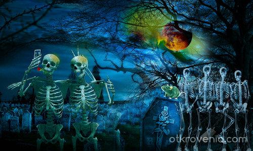 Селфи в гробищният свят