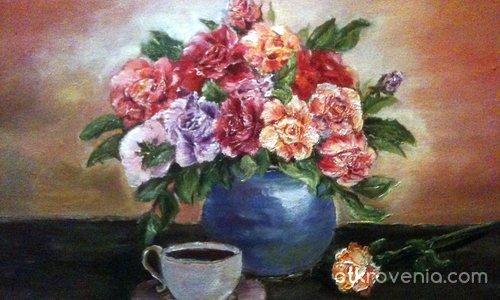 Натюрморт с рози