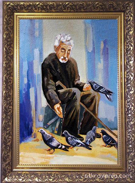 Старецът с гълъбите