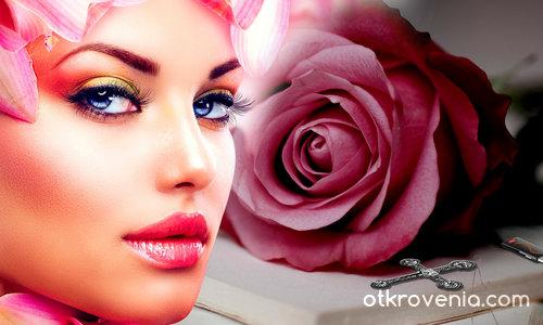 Лице с роза