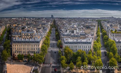 Поглед към Sacre-Coeur