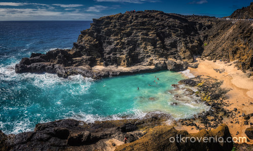 Halona Blow Hole & Cove, O,ahu, Hawaii