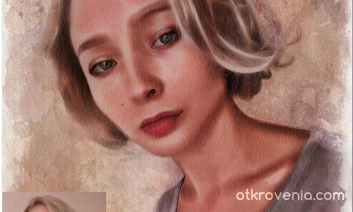 Портрет (отрисовка по фото)