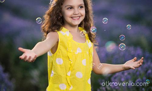 Лилаво с балончета
