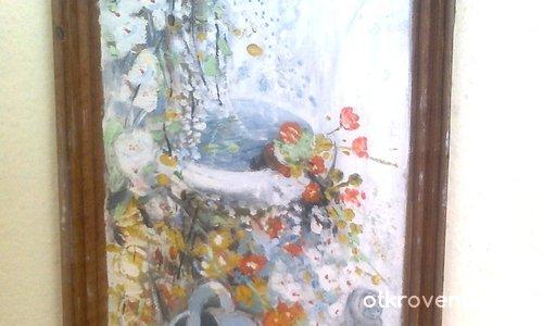 Лейка със цветя
