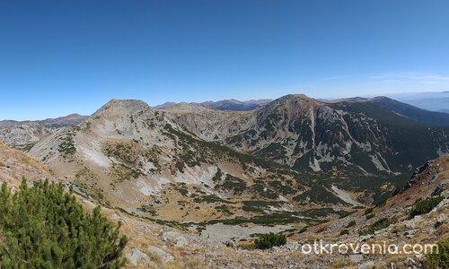 Панорама от Аладжа (Пъстри) слап, 2684 м.