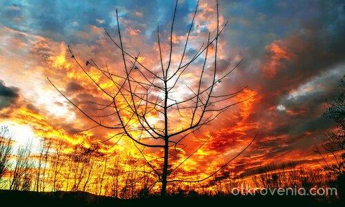 Небеса в пламъци