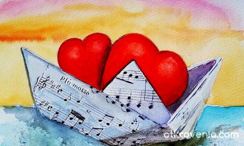В лодката на любовта...