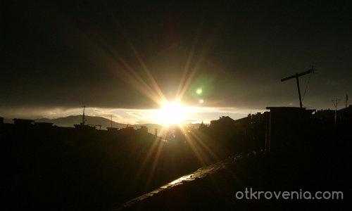 Залез над Благоевград