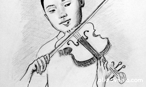 Момиче с цигулка