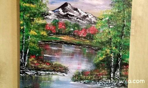 Платно рисувано с акрилни бои - 40 /50см