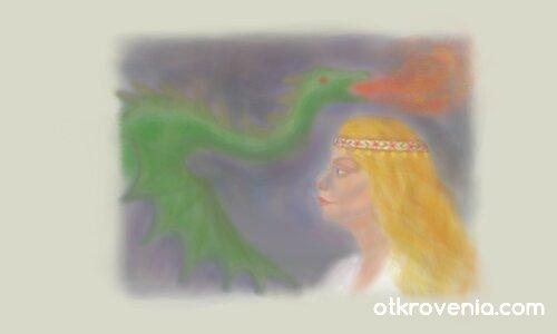 Легенди: Девойка и змей 1