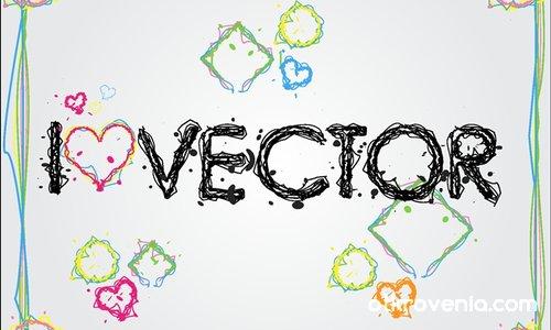 Тапет/I love vector