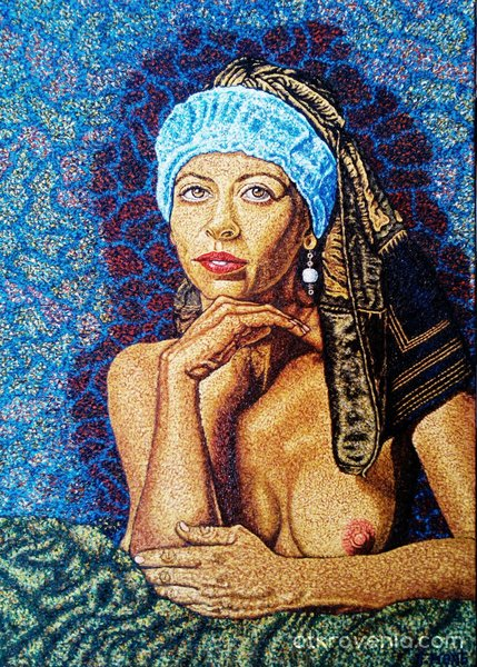 Жена с перлена обица