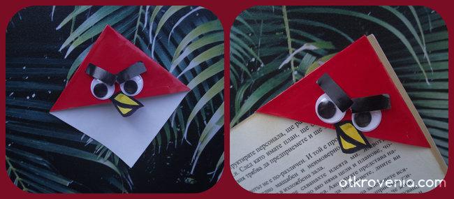 Ръчно изработен книгоразделител - Angry Birds